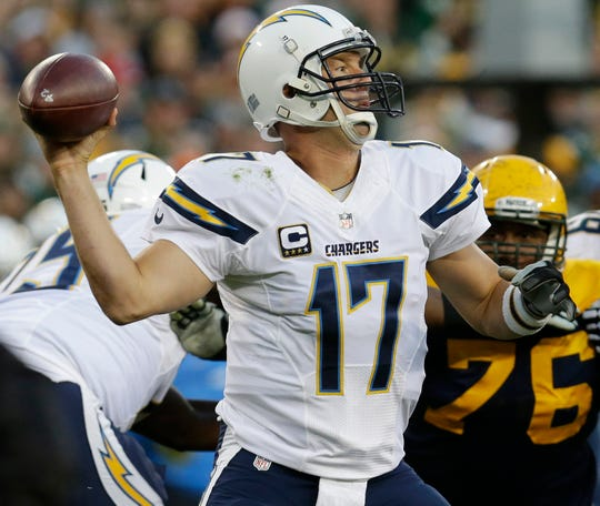 Chargers quarterback Philip Rivers threw for career highs in yards (503), completions (43) and attempts (65) in the last meeting with the Packers in 2015.