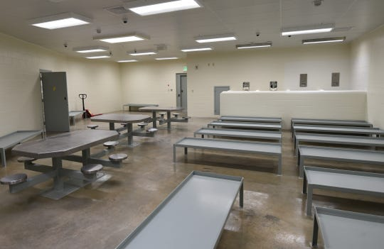 This barracks-style housing unit at the Baxter County Detention Center will have beds for 18 inmates. It is one of two barracks-style units that will soon be used by the jail.