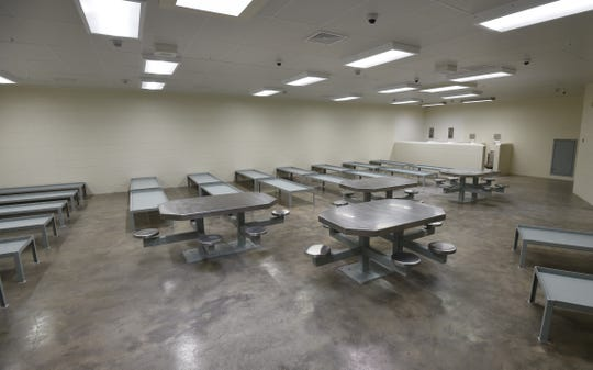 The larger of the Baxter County Detention Center's two new barracks-style housing units will have beds for 23 inmates.