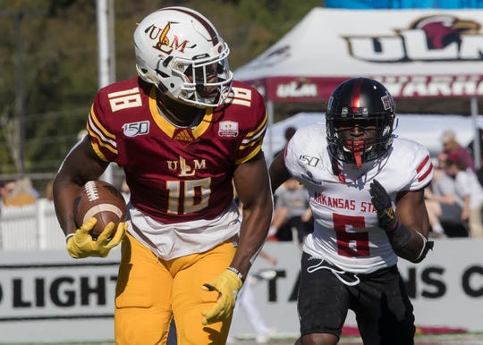 """Once you realize who you are and that not everything is sweet and ideal for you, it's tough,"" said ULM junior wide receiver Jonathan Hodoh."