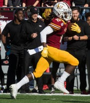 Wide receiver Markis McCray caught two touchdowns in the fourth quarter to help ULM beat Georgia State, 45-31, on Saturday at JPS Field at Malone Stadium.