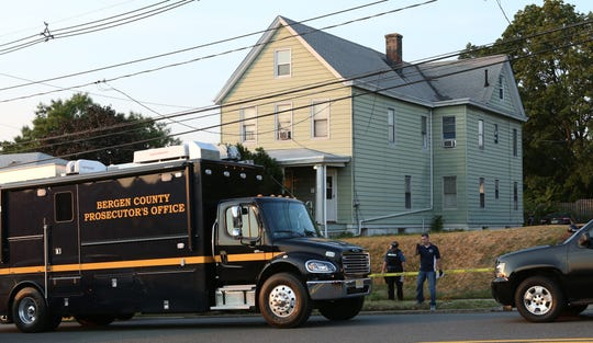 Bergen County Prosecutor's Office investigates a shooting on Passaic Avenue in Hasbrouck Heights in 2015.