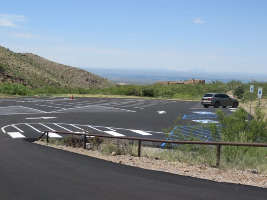 """The Soledad Canyon Day-Use parking lot has plenty of room for visitors and allows for easy """"in and out"""" traffic."""