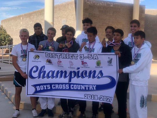 The Oñate boys cross country team took home the district team championship on Saturday at Deming.