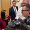 U.S. Sen. Martha McSally, in Scottsdale, promptly ends reporter questions after she was asked about allegations against President Donald Trump.