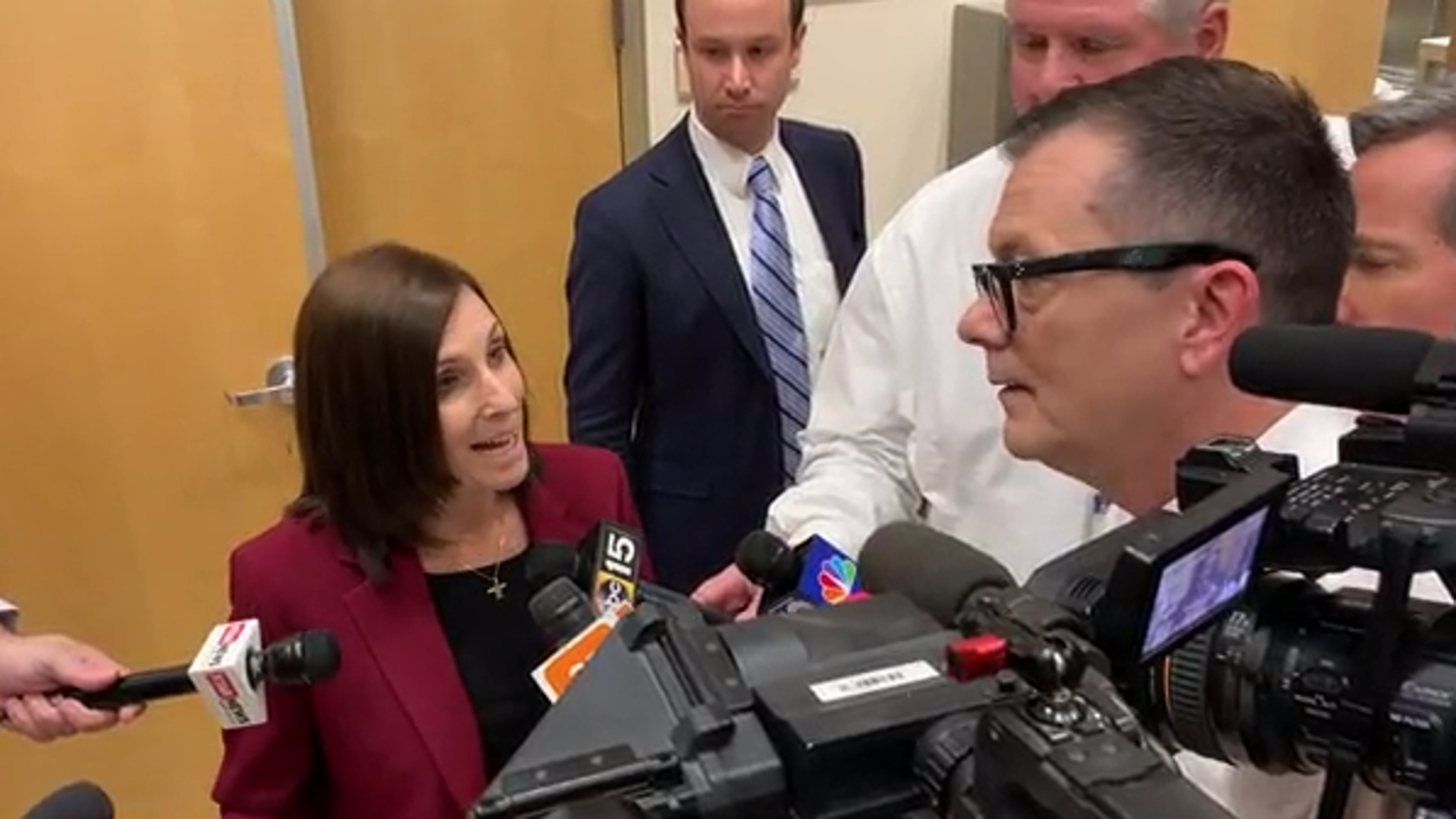 Sen. Martha McSally abruptly ends reporters' questions when asked about impeachment