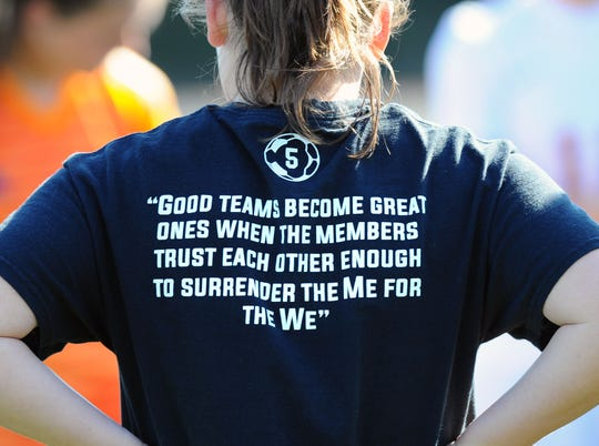 Elco sent a message with the team t-shirts they were wearing before the game.