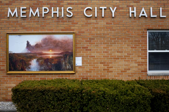 Cotapaxi, by artist Frederic Edwin Church, is on display outside Memphis City Hall in 2015.