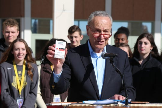 Sen. Chuck Schumer calls on the FDA to close loopholes in an e-cigarette ban that, he says, will allow mint and menthol to remain on the market.