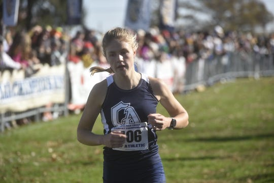Greencastle-Antrim's Taryn Parks finished second in the PIAA Cross Country championships on Saturday, November 2 in Hershey