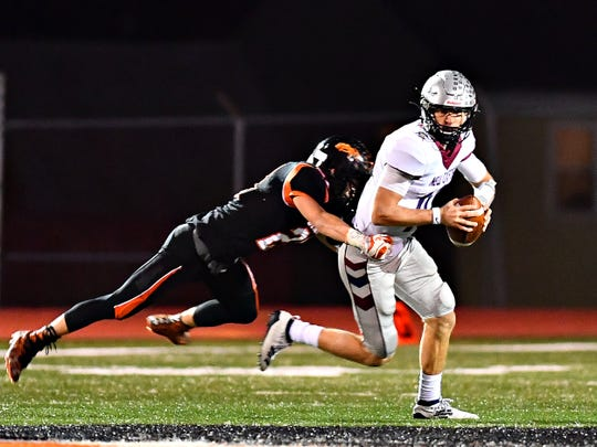 New Oxford quarterback Brayden Long was named the York-Adams League Division I Offensive Player of the Year.
