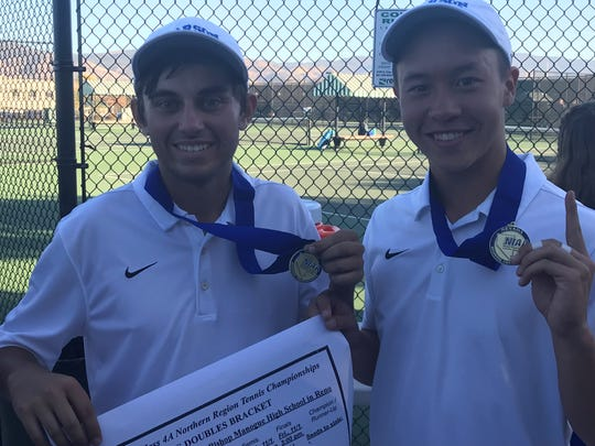 Carson's Bradley Wiggins and Eric Tomita won boys doubles.
