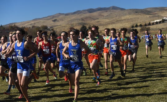 The NIAA Northern Region boys cross country race at Rancho San Rafael Regional Park in Reno on Nov. 2, 2019.