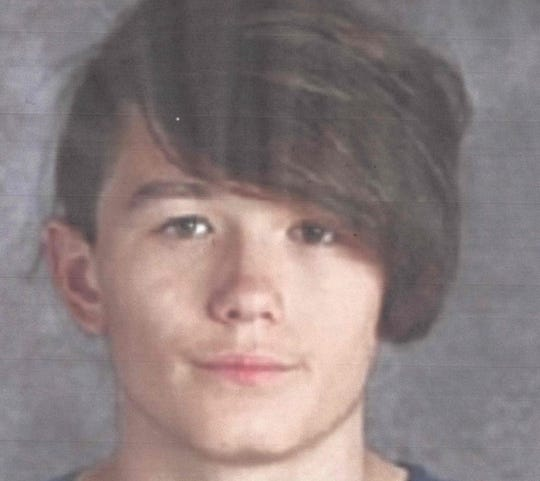 Joseph Kern, 14, was reported missing this week. He is 5 feet 5 inches and about 125 pounds. He was last seen near Whistling Drive in Redding on Thursday, Oct. 31.