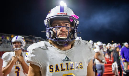 Salinas quarterback Carl Richardson was chosen as California's male athlete finalist for the Heisman High School Scholarship.