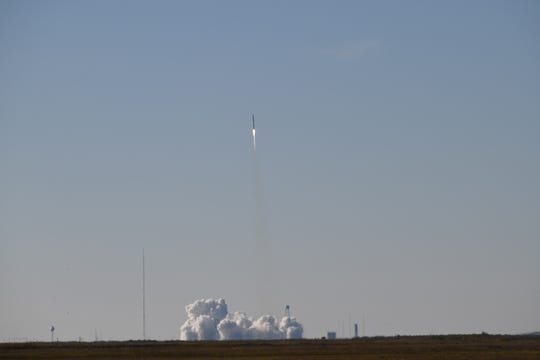 A Northrop Grumman Antares rocket successfully launched from the NASA Wallops Flight Facility on Saturday, Nov. 2, 2019 on its way to bringing a fresh payload to astronauts in space.