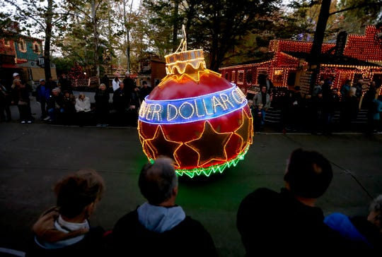 Silver Dollar City kicked off its annual Christmas festival on Friday, Nov. 1, 2019 with a lighting of a new 80-foot Christmas tree adorned with LED lights and parade.