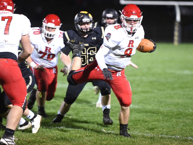 Riverheads' Zac Smiley finished with six touchdowns in Friday night's win over Buffalo Gap.