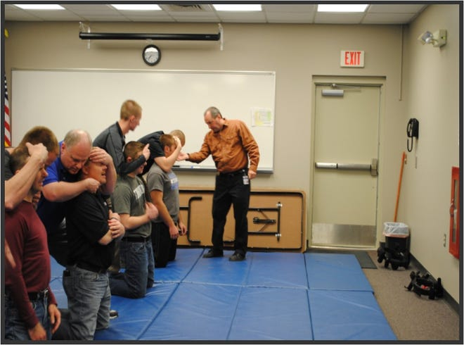 Sartell Reserve Officer training includes use of force, handcuffing, pepper spray and stun gun use. Sauk Rapids will soon implement a similar program, according to Sauk Rapids Police Chief Perry Beise.