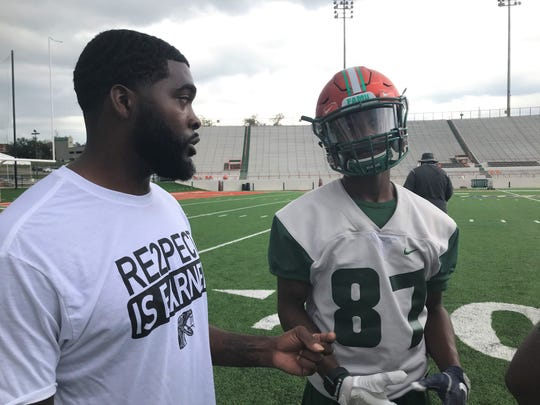 FAMU wide receivers coach Jelani Berassa has enjoyed tremendous success in his two years with the Rattlers. He faces his former employer in Delaware State on Saturday, Nov. 2, 2019 at Bragg Memorial Stadium.