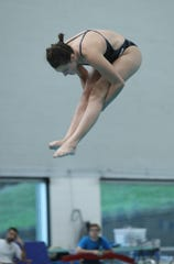 Rye-Rye Neck-Blind Brook's Katie Laverty competes in the Section 1 diving championships at SUNY Purchase in Purchase on Friday, November 1, 2019.
