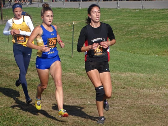 Crooksville senior Savannah Moorehead competes in the Division III state meet Saturday at National Trail Raceway. Moorehead finished 53rd.