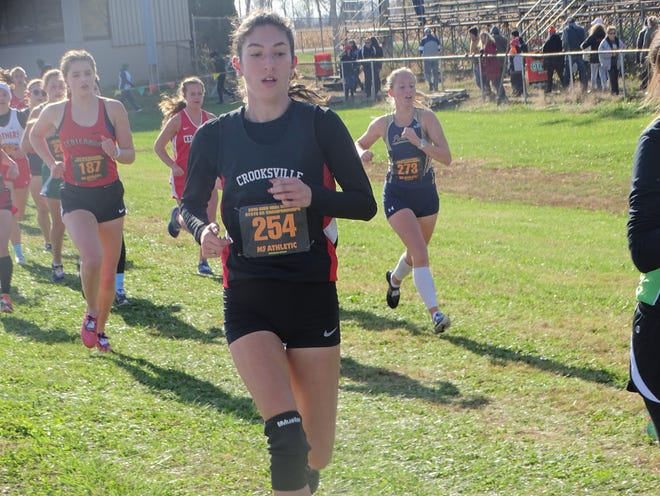 Crooksville senior Savannah Moorehead finished 53rd in the Division III state cross country meet earlier this season. Moorehead will compete in cross country and track for West Liberty after signing her letter of intent on Wednesday.