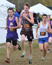 John Glenn's Chris Tooms competes in the Division II state cross country meet. He finished 50th.