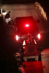 Contra Costa County Sheriff deputies investigate a multiple shooting in Orinda, Calif., on Thursday, Oct. 31, 2019.
