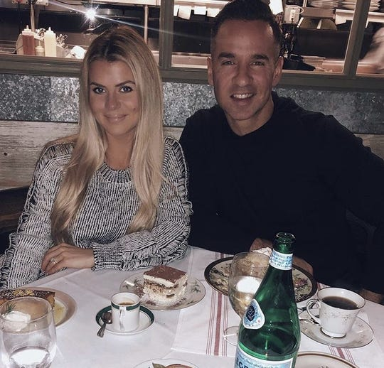 Lauren and Mike Sorrentino at Anjelica's Restaurant in Sea Bright on Nov. 1, 2019.