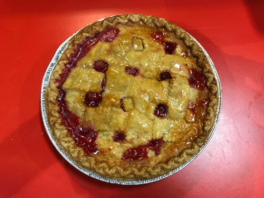 Becca's Bakery, located at 19 Commerce Street inside the Dutch County Farmer's Market in Flemington,has been in business for eight years making, baking and selling pies, such as this Cherry, from her and her mother's recipes.