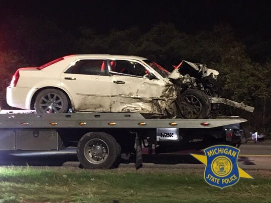 A suspected drunk driver got into a car accident early Saturday morning on westbound I-696 underneath the Haggerty overpass.
