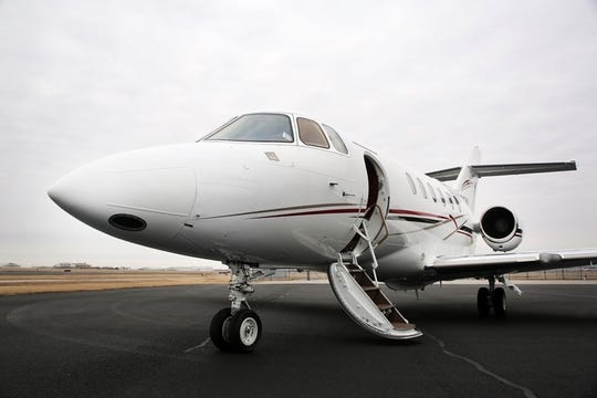 A preliminary report on the emergency nighttime landing of a private air taxi jet atSouthwest Florida International Airport that shut the airport down for more than an hour Oct. 7 pointed to a deformation in the nose landing gear of the Hawker 800XP, similar to the craft shown here.