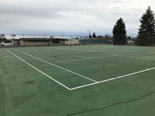 Two aging tennis courts at Jaycee Park will be turned into pickleball courts Jaycee Park.