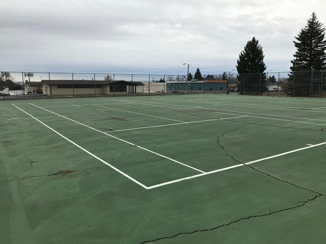 Two aging tennis courts at Jaycee Park will be turned into pickleball courts at Jaycee Park. Work will begin in a few weeks.