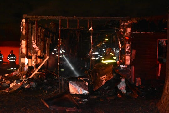 The Indianapolis Fire Department responded Saturday night to a two-alarm fire at 9827 E. 25th St.