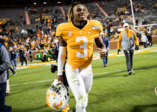 Tennessee running back Eric Gray scored his first college touchdown last week against UAB.