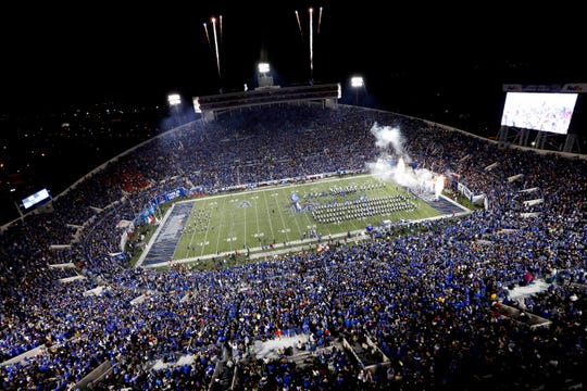 Fans fill the Liberty Bowl Memorial Stadium for Memphis vs. SMU on Saturday, Nov. 2, 2019.