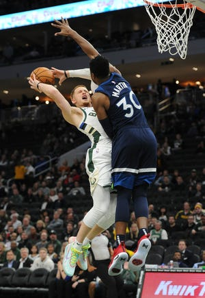 Donte DiVincenzo is part of a deep Bucks bench providing meaningful minutes this season.