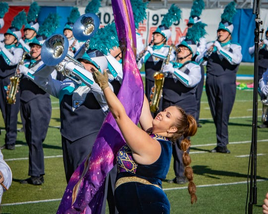 Siegel High was among the nearly 30 bands to perform at the 57th annual Contest of Champions at MTSU on Saturday, Nov. 2, 2019.