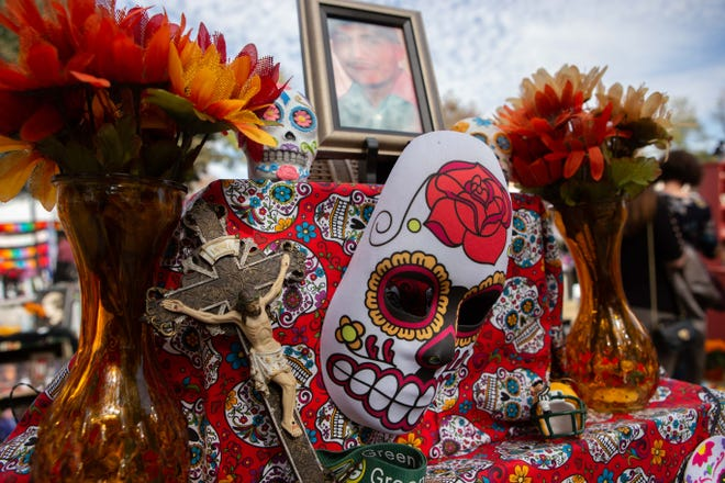 Day of the Dead, or Día de los Muertos, is celebrated  throughout Mexico, in particular the Central and South regions, and by people of Mexican heritage elsewhere. Altars, or ofrendas, are created to remember the dead, and traditional dishes for the Day of the Dead are laid out on the altars.