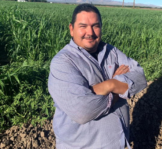 D.J. Martinez, a La Mesa farmer, is a candidate for Position 2 on the Doña Ana Soil and Water Conservation District.
