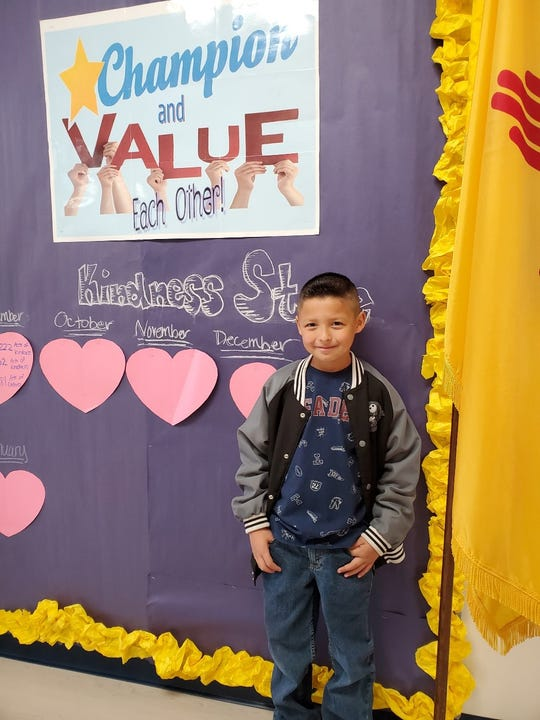 Achilles Jimenez is a 3rd grader at White Mountain Elementary.