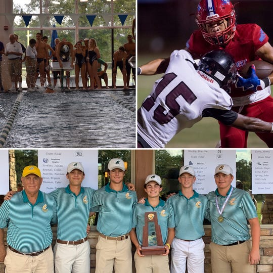 Gulf Breeze's Stephen Speck (top left), Pine Forest's Jaden Milliner (top right) and Catholic's Nicholas Dimitroff (bottom) are among the latest nominees for PNJ Athlete of the Week.