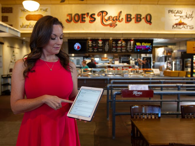 Shandee Chernow, seen at Joe's Real BBQ Oct. 21, 2019, started CertiStar, a company that created software that lets customers determine whether menu items will trigger allergies. Carly Bowling/The Republic
