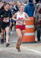 Riley Ford of Marlette runs in the state Division 4 cross country meet at Michigan International Speedway in Brooklyn on Saturday, Nov. 2, 2019. (Photo: )