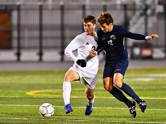 Dallastown vs Central Dauphin during PIAA District 3, Class 4-A soccer championship action at Hersheypark Stadium in Hershey, Saturday, Nov. 2, 2019. Central Dauphin would win the game 1-0. Dawn J. Sagert photo