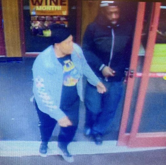 Two suspects wanted by Springettsbury Township Police for a retail theft that occurred at Fine Wine and Good Spirits, 2547 E. Market St. on October 30.