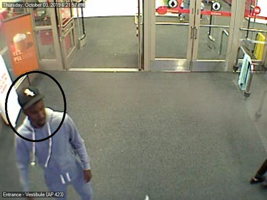 A suspect sought by Springettsbury Township Police for allegedly using counterfeit money at Target, 2610 Pleasant Valley Rd, on October 3.