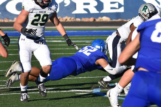 Dixie's Kaiden Faumuina is The Spectrum's Defensive Player of the Year.